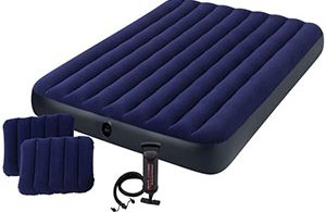 Intex Classic Downy Airbed Set with 2 Pillows and Double Quick Hand Pump